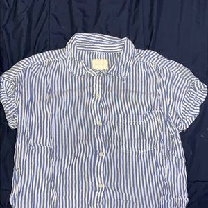 Blue and white striped American Eagle shirt